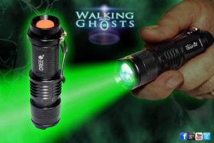 Forensic Green LED Flashlight Torch Ghost Hunt Paranormal InvestigationTool/UK